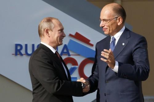 Vladimir Putin e Enrico Letta